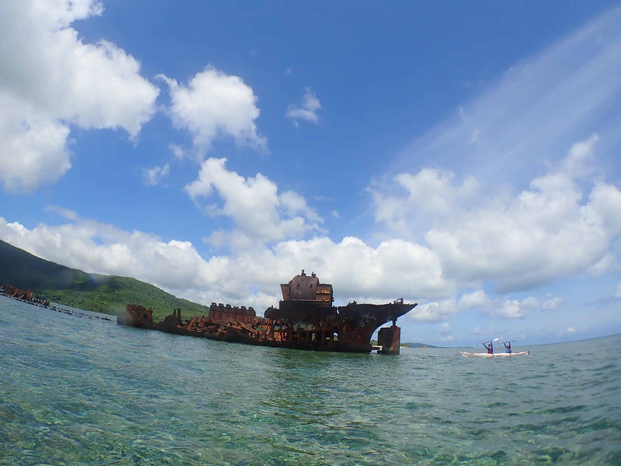 西表島の座礁船