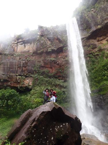 台風接近中でも快適ツアー 西表島 ピナイサーラの滝カヌーツアー
